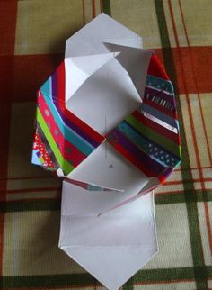 Recycled Christmas Card Gift Boxes