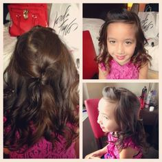 Flower girls are equally as important as the bride! Loving these curls with a half up half down look!