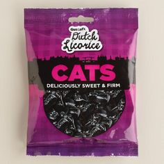 We love the authentic combo of lightly salted, sweet licorice that gives our Gustafs Dutch Licorice Cats their traditional appeal. Fat free and delicious, these candies are in a fun feline shape, and they're a perfect choice for the black licorice connoisseur.