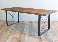 Railcar Dining Table @flea_pop