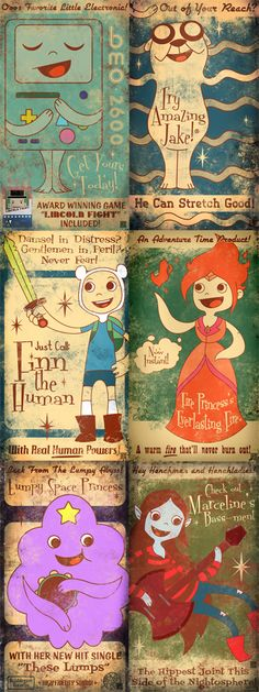 50's style / Fallout inspired Adventure Time art