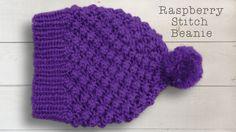 RASPBERRY OR TRINITY STITCH BEANIE HAT -   Part One