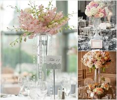 LONG STEM PEACH TULIPS CENTERPIECES FOR WEDDING - Google Search