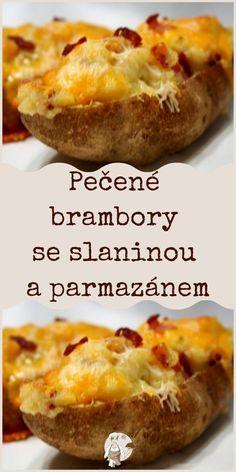 Pečené brambory se slaninou a parmazánem