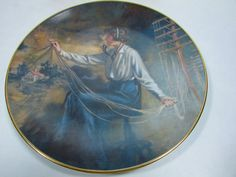 "Vintage Collectible Telephone Pioneers Plate Weavers of Speech 8.5"" X 8.5"""