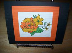 Orange Flower Handmade Greeting Card by janzcardsandgifts on Etsy