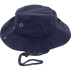 9c7b9249e18199 Boonie Fishing Bucket Hat with String, Black, L/XL: Very Soft, Feels Great  Hat comes in two sizes. S/M and L/XL Made with Cotton Great for all summer  ...