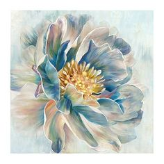 The vibrant center of our Botanical Breeze Canvas Art Print contrasts with its pastel petals. Texture Painting, Fabric Painting, Watercolor Flowers, Watercolor Art, Floral Wall Art, Flower Art, Flower Canvas, Canvas Frame, Canvas Art Prints