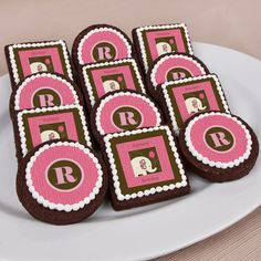 Girl #Elephant - Personalized Party Brownie Favors