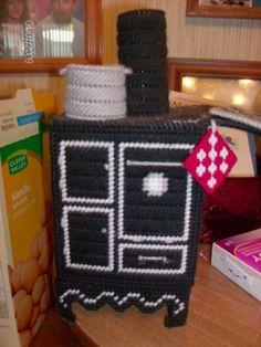 plastic canvas stove tissue box cover