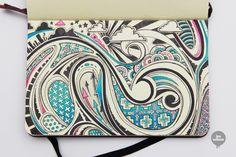Paisley-ish twirls. // Moleskine Illustrations, by Lex Wilson.