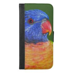 Rainbow Lorikeet Photo iPhone 6/6s Plus Wallet Case - diy cyo customize create your own #personalize