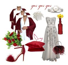 """""""feathers for wedding"""" by lunashawls ❤ liked on Polyvore featuring Wedding Belles New York"""