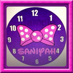 Personalized Minnie Mouse Wall Clock by daJShop on Etsy