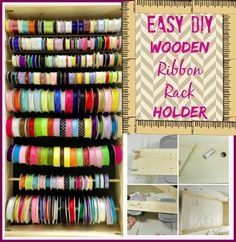 {Craft Organization} How to Make a Wooden Ribbon Rack Holder