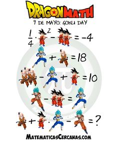 In Japanesse , 5 - Go , 9 - ku , so May is considered as GOKU day. Try this famous puzzle on DragonBallZ Goku Dragon, Dragon Ball Z, Akira, Puzzle Solver, Z Warriors, Animated Dragon, Goku And Vegeta, Picture Puzzles, Maths Puzzles