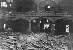 """Sinagoga destruída durante a """"Noite dos Cristais""""..."""