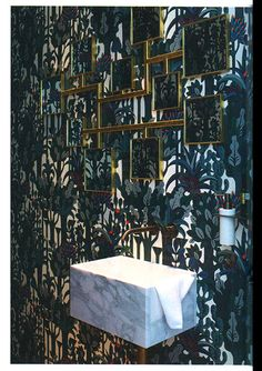 Hermes wallpaper Pierre Marie and Elisabeth Garouste mirrors