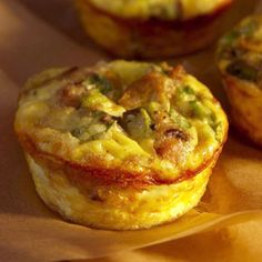 Mini Mushroom-and-Sausage Quiches