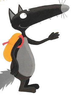 Loup sac à dos Illustrations, Disney Characters, Fictional Characters, Wolf, Clip Art, Cartoon, Education, Animals, Album