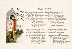 Pussy Willow and other child songs -  It would be cute to frame these for a sun room or garden patio