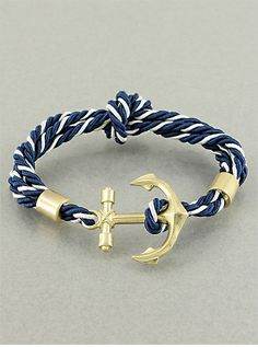 anchor + rope bracelet