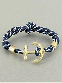 anchor + rope bracelet