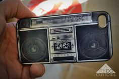 iPhone Cases - BoomBoX Ghettoblaster HipHop 80s Music Radio DJ Hip Hop Speakers Classic Vintage Hard Cover Protective iPhone 4 iPhone 5 Case. $18.00, via Etsy.