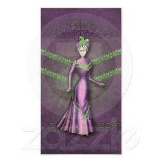 DELIA: 1890s WALKING DRESS in Plum & Spring Green Print