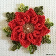 Flor coração passo a passo - croche.com (81)