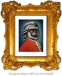 Wolfgang Amadeus Monkzart  signed print by ChetArt on Etsy, $18.00