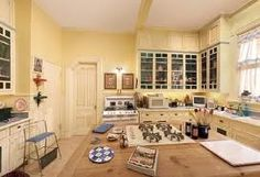 Cabinets to the ceiling (Halliwell Manor)