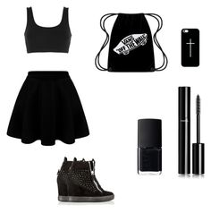 """Black outfit "" by nbacovska on Polyvore featuring adidas Originals, Casetify, Giuseppe Zanotti, Chanel and NARS Cosmetics"