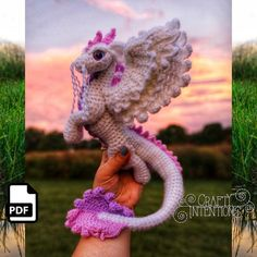 Elemental Air Dragon Crochet Amigurumi Digital PDF Pattern by Crafty Intentions – Amigurumi Free Pattern İdeas. Crochet Dragon Pattern, Crochet Geek, Crochet Patterns Amigurumi, Crochet Toys, Free Crochet, Yarn Colors, Crochet Animals, Crochet Projects, Crafty