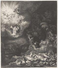 Rembrandt Harmensz. van Rijn | De verkondiging aan de herders, Rembrandt Harmensz. van Rijn, 1634 |