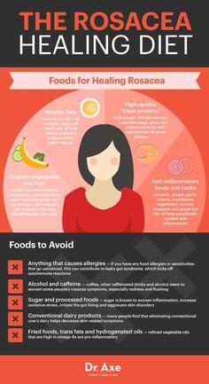 Rosacea healing diet - Dr. Axe http://www.draxe.com #health #holistic #natural #recipe