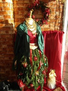 my first xmas tree dress