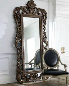 American Drew 721-065 Jessica McClintock Home Floor Mirror, Heirloom ...