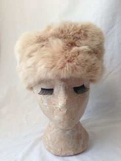 RABBIT FUR RUSSIAN Hat by HousewifeVintage on Etsy, $39.00