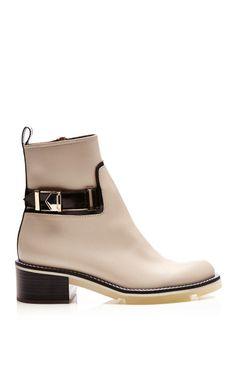 White Calf Ankle Boots with Buckle by Nicholas Kirkwood - Moda Operandi Oooooohhh..... I. Love. These.
