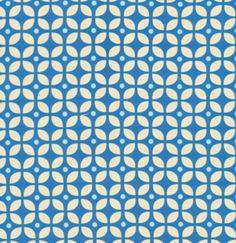 Keuzestof katoen - blauw patroon