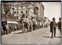 "April 24, 1920. New York City. ""Overalls Circus Parade."""