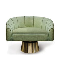 BETANIA |Essentials Collection shaped between Bossa Nova notes and shaken, not stirred Martini drinks, sofa, green, gold @delightfull