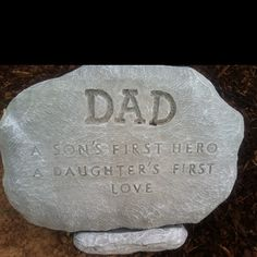 Placed in my garden in memory of my sweet dad. Miss him so much...
