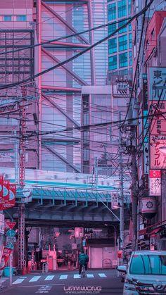 Japan Cityscape Iphone Wallpaper Iphone Wallpaper Pinterest