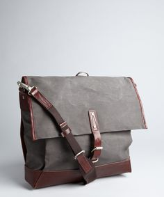 Property Of... fern waxed canvas and leather 'Alfred' utility pack | BLUEFLY up to 70% off designer brands
