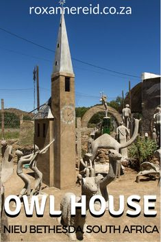 Visit the Owl House in Nieu Bethesda in the Karoo and see a world that outsider artist Helen Martins created of cement and glass. #travel #EasternCape #SouthAfrica