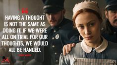 Grace Marks: Having a thought is not the same as doing it. If we were all on trial for our thoughts, we would all be hanged. More on: https://www.magicalquote.com/series/alias-grace/ #aliasgrace #gracemarks