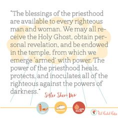 How Do I Receive the Power and the Blessings of the Priesthood in My Life?  June Young Women lessons - free social media images!