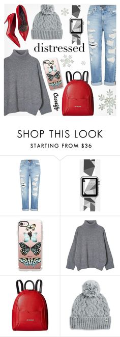 """""""Distressed. ~ Casetify #5"""" by alexandrazeres ❤ liked on Polyvore featuring Genetic Denim, Casetify, Love Moschino, Rella, casual, phonecase, watch and distressed"""